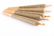 Few Medical Marijuana Joints On White Background