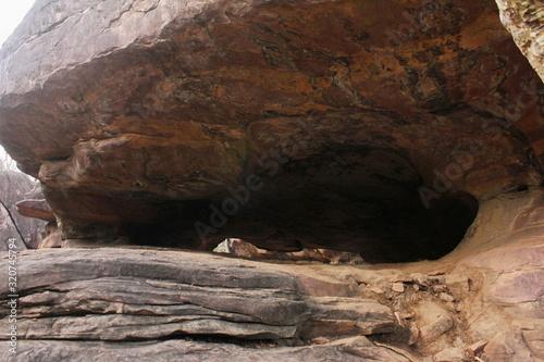 Cave shelter at Bhimbetka, Raisen, Madhya Pradesh, India