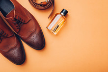Oxford Male Brogues Shoes With...
