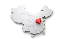 Map Of China Showing Henan Reg...