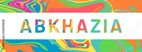 web Label Sticker Abkhazia Canvas Print