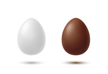 White And Chocolate Eggs With ...