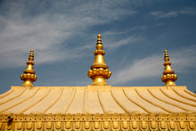 Roof Detail Of Buddhist Temple...
