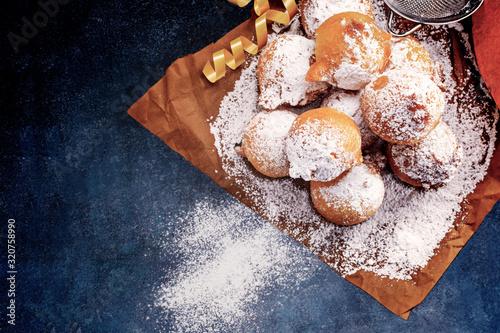 Fototapeta Castagnoli- italian fritters in carnival . obraz