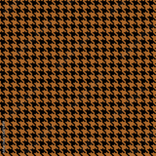 Fotografía Houndstooth seamless pattern. Brown classical fabric background