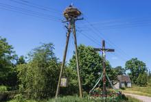 Wayside Cross And Storks Nest ...