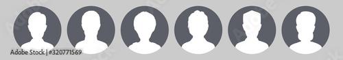 Fotografia, Obraz Profile Placeholder image. Gray silhouette no photo