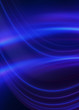 Leinwanddruck Bild - Dark blue abstract background with ultraviolet neon glow, blurry light lines, waves