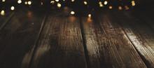 Wooden Background With Defocus...