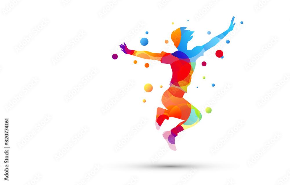 Fototapeta amici, saltare, abilità, amicizia, giocare