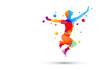amici, saltare, abilità, amicizia, giocare
