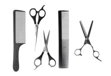 Scissors And Combs For Cutting Hair