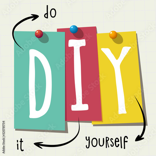 DIY: Abbreviation for Do it Yourself Canvas Print