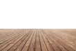 Leinwanddruck Bild - white painted or plaster wall and wooden floor decoration for background.