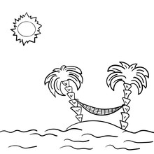 Sketch Of The Sunny Beach With...