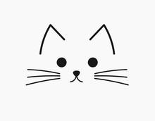 Symbolic Cute Cat Face.