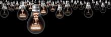 Dark And Shining Light Bulbs G...