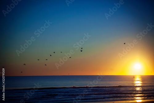 sunrise over sea