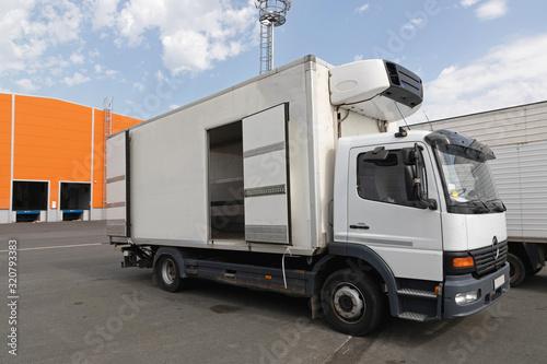 Fototapeta Refrigerated Truck Cargo Transport obraz