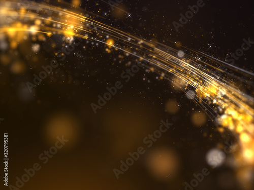 Fotografie, Obraz Gold awards with particles stripe background.