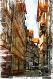 Fototapeta Uliczki - Hann. Munden (short for Hannoversch Munden), the town in Lower Saxony, Germany