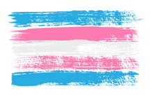 Grunge Transgender Pride Flag. Vector Illustration Symbol Of LGBT Movement. LGBTQ Community.