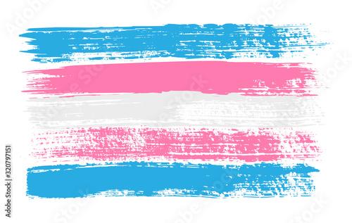 Fotomural Grunge Transgender pride flag