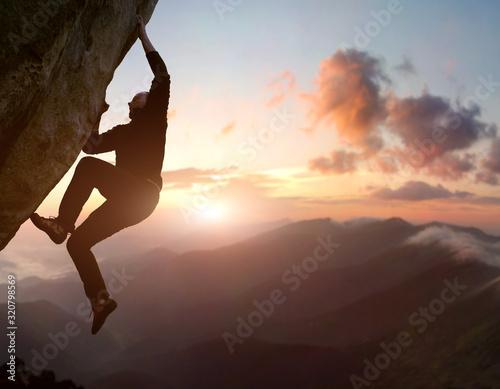 Obraz na plátně Rock climbing