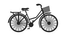 Vintage Bicycle With Basket Si...