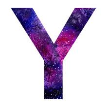 Cosmic Watercolor Big Letter Y...