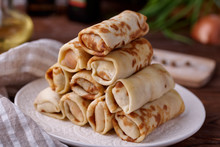 Russian Pancakes With Filling,...
