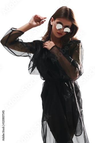 Fotografie, Obraz black organza dress