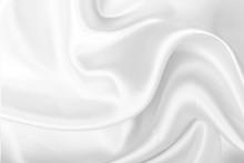 White Fabric Texture Backgroun...