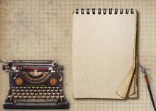 Alte Schreibmaschine, Schreibf...