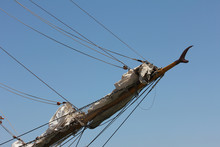 Bowsprit Of A Sailing Ship Ove...