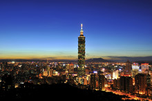 Taipei 101 At The Sunset In Ta...