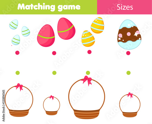 Match by size educational children game Canvas Print