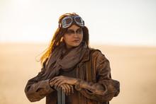 Armed Post-apocalyptic Woman O...