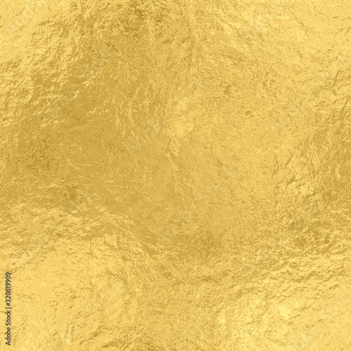 Gold foil seamless texture, golden shiny background