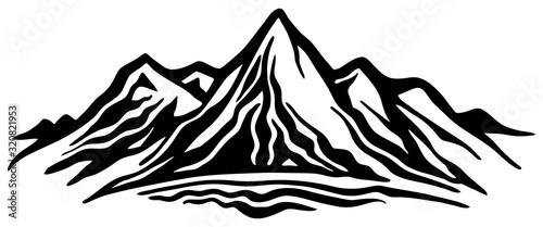 Mountain range Wallpaper Mural