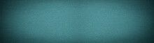 Turquoise Blue Rustic Leather Texture - Background Banner Panorama Long