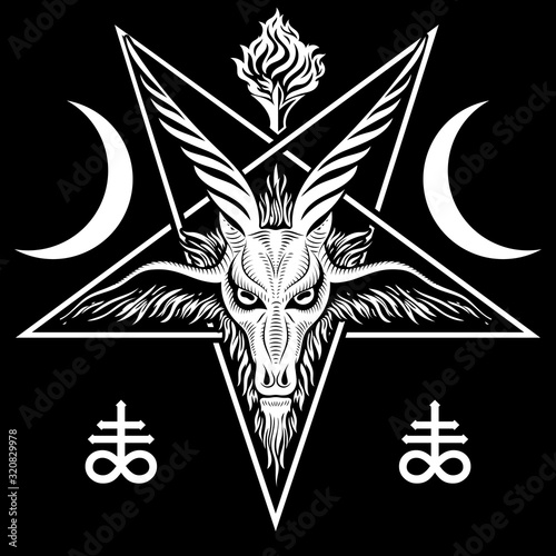 Cuadros en Lienzo The pentagram, the sign of Lucifer