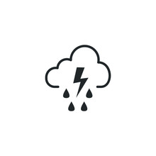 Hard Rain Icon Template Color ...