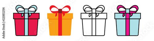 Fotografía Set gift box with ribbon