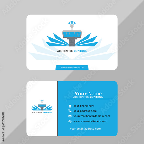 Fotografie, Obraz Aviation name card template vector for pilot and air traffic controller
