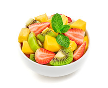 Fruit Fresh Salad In Bowl, Die...