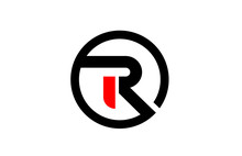 Design Of Circle Alphabet Letter R For Company Logo Icon