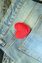 Valentine Day, Heart On Jeans ...