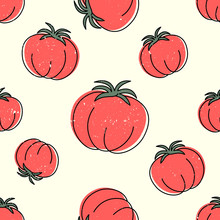 Ripe Tomato On Beige Backgroun...
