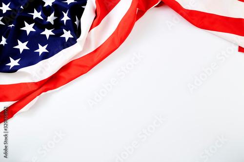 Fototapeta American Flag Wave for Memorial Day or 4th of July obraz